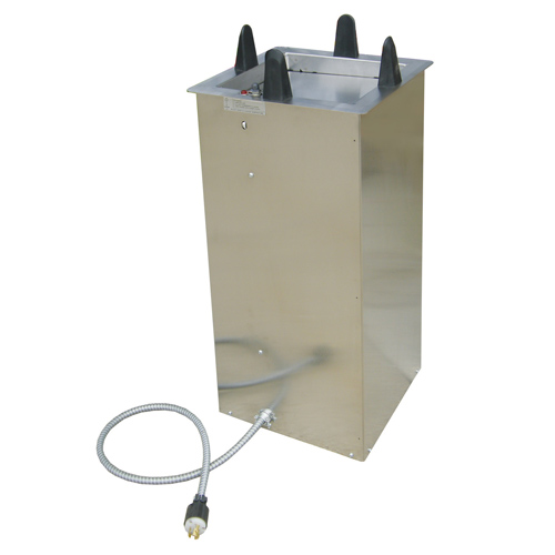 Lakeside-Heated-Counter-Drop-Style-Dish-Dispenser-Square-Plate-To