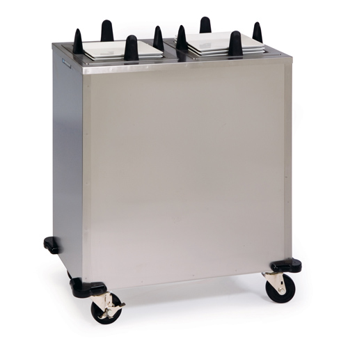 Lakeside Mobile Heated Enclosed Cabinet Dish Dispenser Stack Square Plate