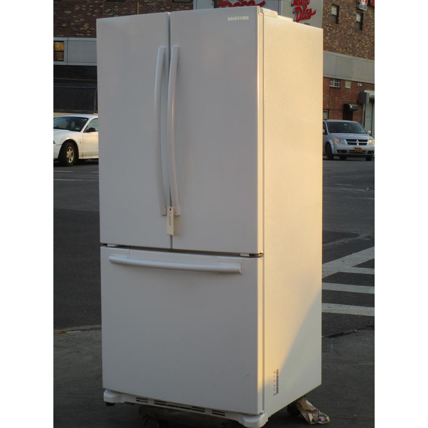 samsung rf18hfenbww dual fridge freezer used very good. Black Bedroom Furniture Sets. Home Design Ideas