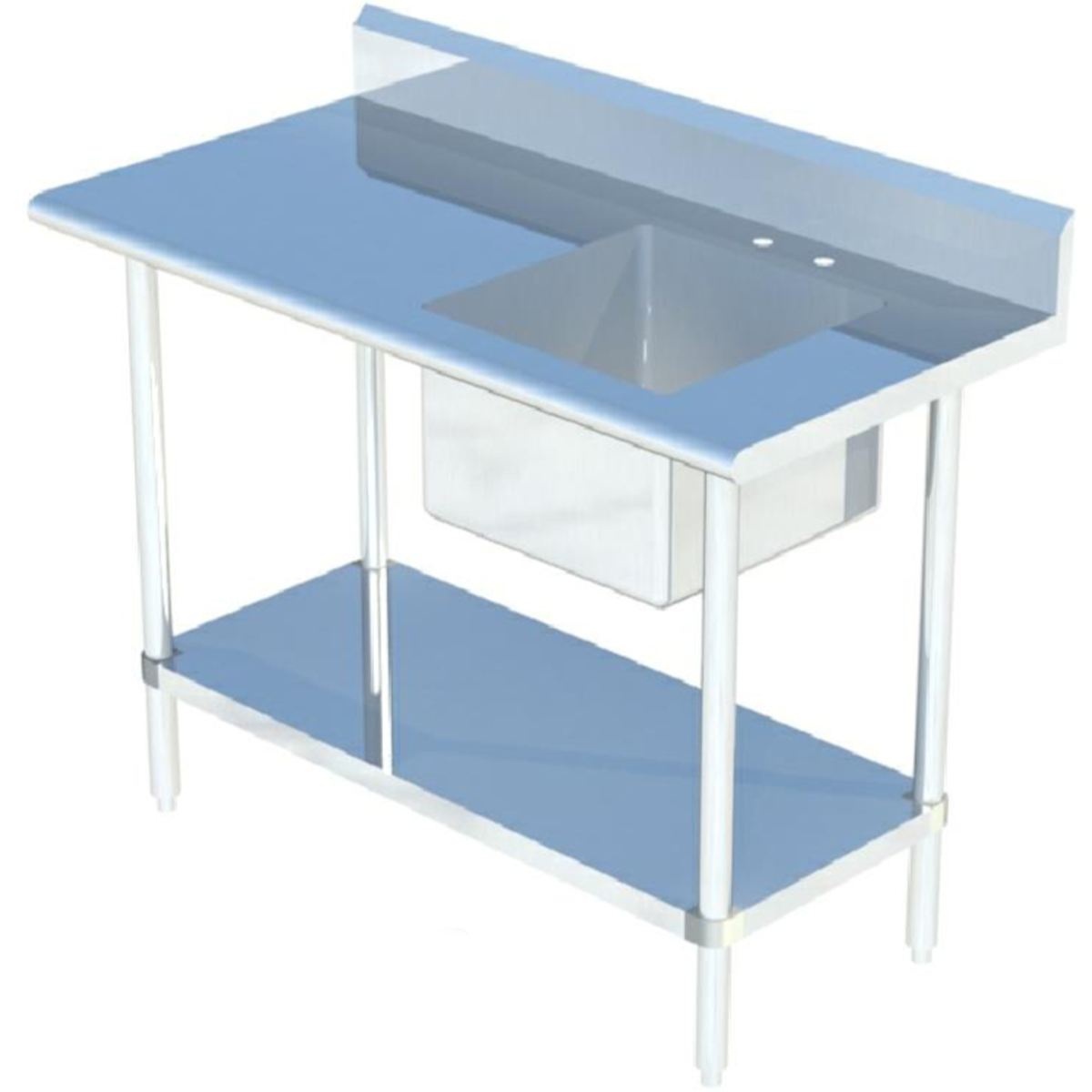 Sapphire SMTPS-2472R Work Table with Right Sink; Table ...