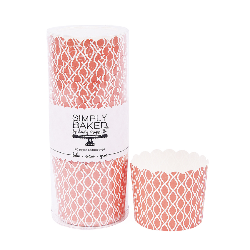 Simply Baked Coral Wave Large Paper Baking Cup CLG-103