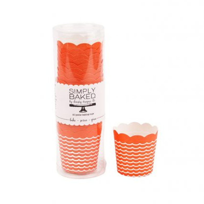 Simply Baked Petite Disposable Baking Cup, Coral Print CPT-100