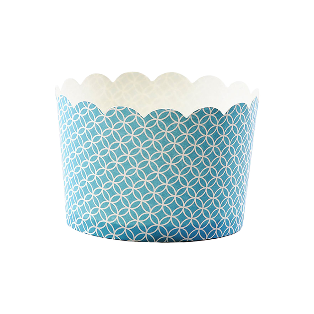 Simply Baked Turquoise Medallion Jumbo Paper Baking Cup CJB-102