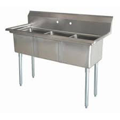 Three Compartment NSF Commercial Sink  - Bowl 12 x16
