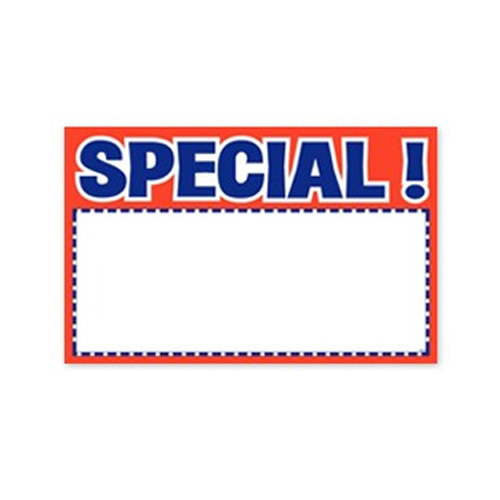 """SPECIAL! Sign Card, 100Pk - 2-3/4"""" x 3-1/2"""