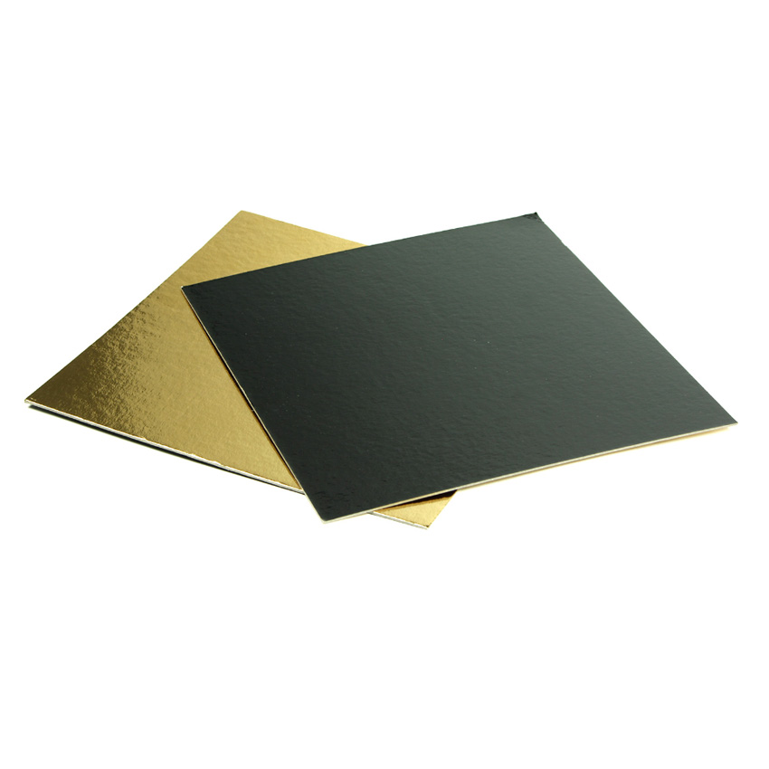 Square Double Sided Pastry Board Gold & Black, 9″ x 9″