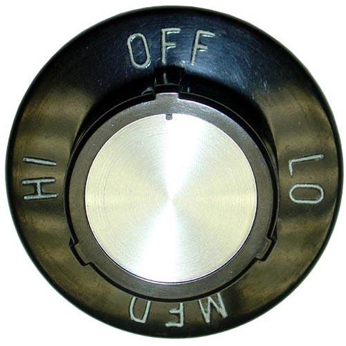 "Star MFG OEM # 2R-9305 / 2R9305 / 9305, 2 1/2"" Grill / Griddle / Hotplate Rotary Knob (Off, Lo, Med, Hi) 2R-9305 / 2R9305 / 9305"