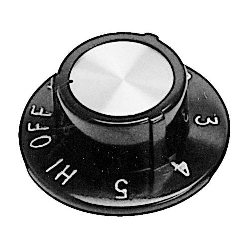 """Star MFG OEM # 2R-9781 / 2R9781 / 9781, 2 1/2"""" Warmer / Hotplate Dial (Off, Lo, 1-5, Hi) 2R-9781 / 2R9781 / 9781"""