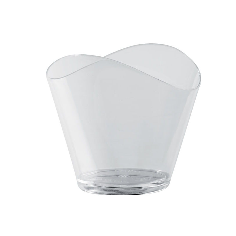 "Martellato Transparent ""Wave"" Dessert Cups - 50ml (1.7 oz. ) capacity PMOCE001"