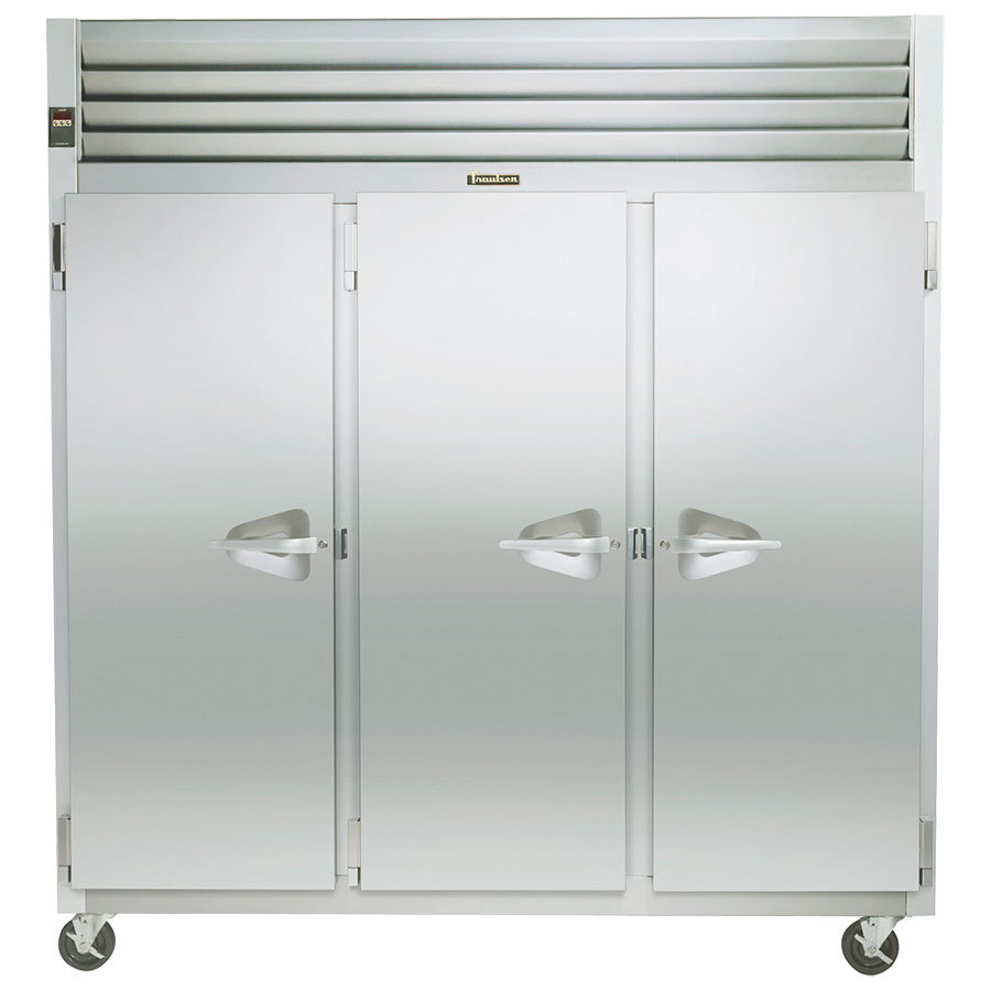 Select Traulsen Series Three Section Solid Door Reach Refrigerator Left Left Rig Product Photo