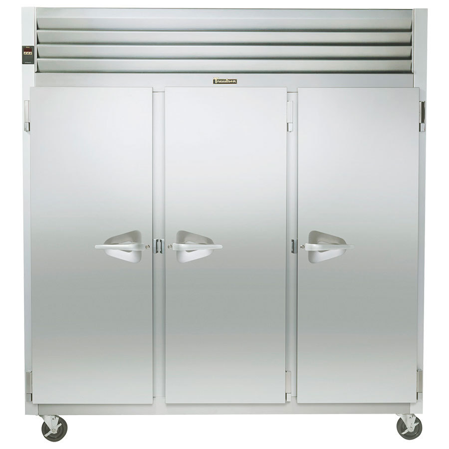 Traulsen Series Three Section Solid Door Reach Freezer Left Right Right H