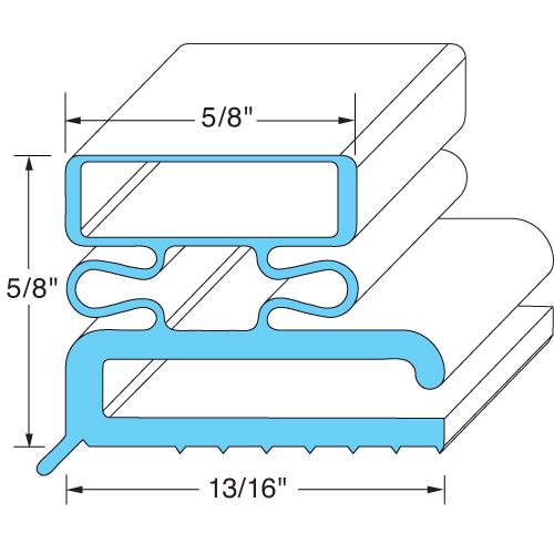 "Traulsen OEM # 703-SVC-43493-00 / 43493, Magnetic Door Gasket - 23 3/8"" x 29 3/8"" 703-SVC-43493-00 / 43493"