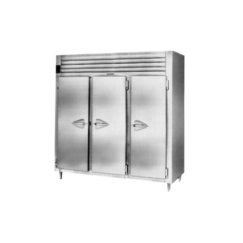 Traulsen Stainless Steel Cu Ft Three Section Reach Refrigerator Specification Line Product Photo