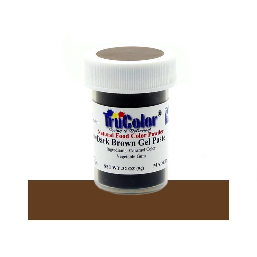 TruColor Dark Brown Gel Paste Natural Food Color, 9g