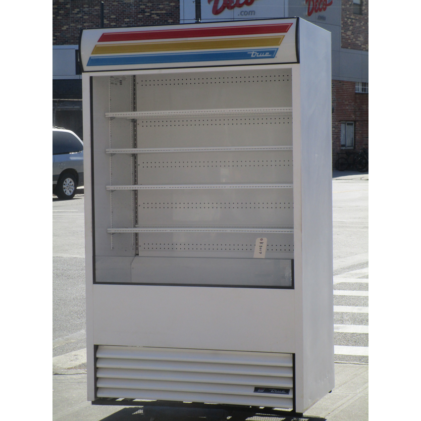 True TAC-48-LD White Vertical Air Curtain Refrigerator - 34 Cu. Ft., Great Condition  TAC-48-LD