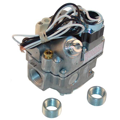 """Type BER-120 Gas Safety Valve; Natural Gas; 3/4"""" Gas In / Out; 1/4"""" Pilot Out; 120VAC Actuator 54-1015"""