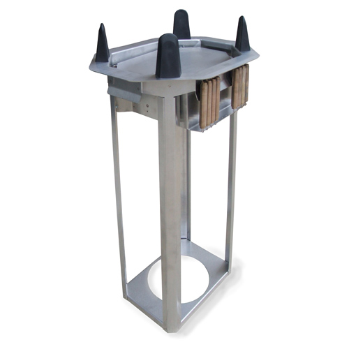 Lakeside-Mobile-Unheated-Open-Frame-Dish-Dispenser Product Image 1630