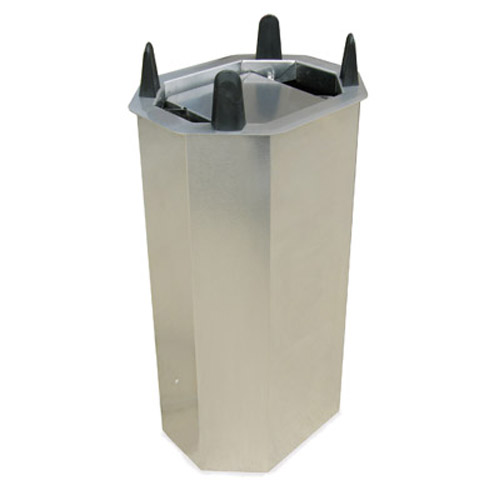"Lakeside Mobile Unheated Shielded Dish Dispenser - Oval - Plate Size: 6-3/4"" x 9-3/4"" to 7-3/4"" x 10-1/2"" V5010"