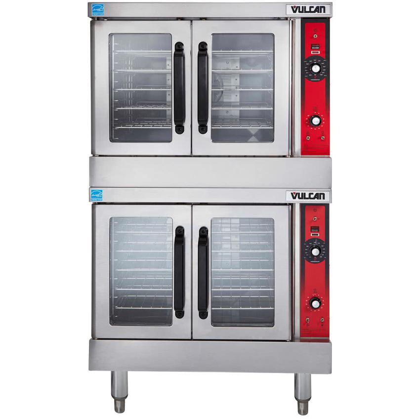 Vulcan VC55GD Double Deck Full Size Natural Gas Convection Oven - 100,000 BTU VC55GD NAT