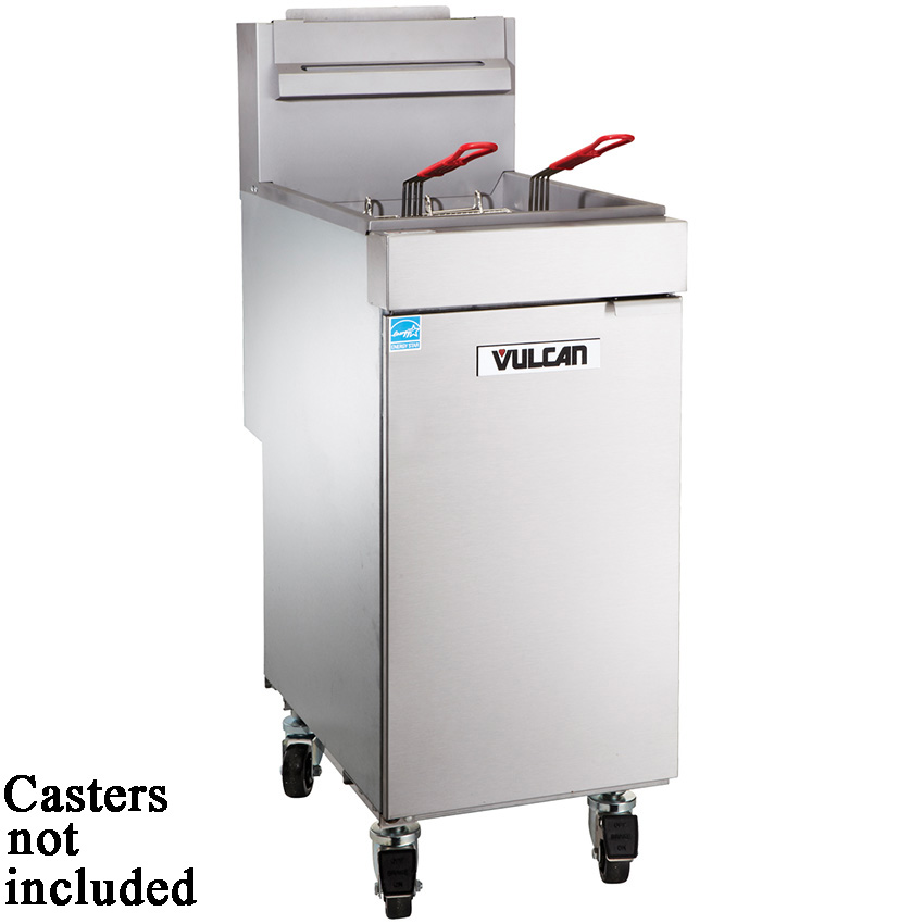 Vulcan VEG35 Free Standing Entry Level Gas Fryer 35-40 Lbs. Oil Capacity - Millivolt Control VEG35