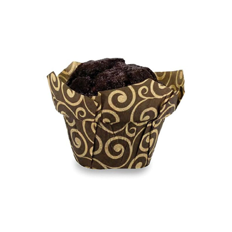 Welcome Home Brands Brown Swirl Tulip Paper Baking Cup - Pack of 100