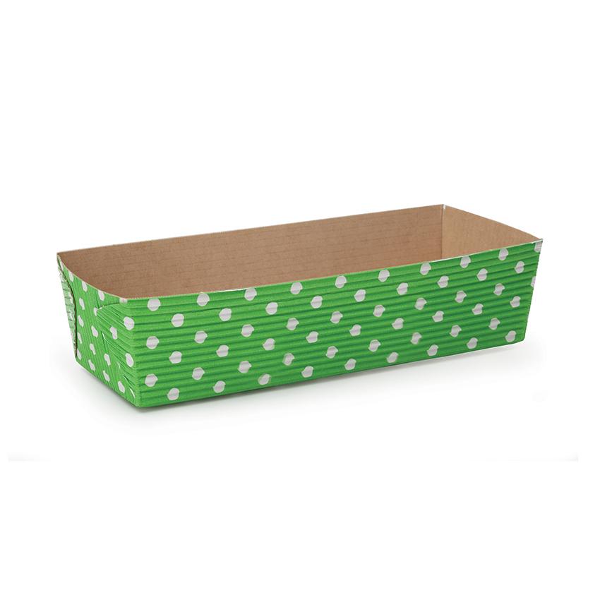 welcome home brands green dot rectangular loaf baking pans size 4 5l x 2 5w x 2 3h case. Black Bedroom Furniture Sets. Home Design Ideas