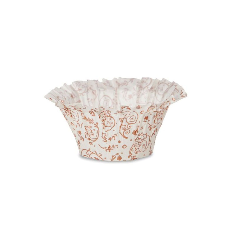 Welcome Home Brands Muffin Basket Paper Baking Cup, Brown Blossom - Pack of 100