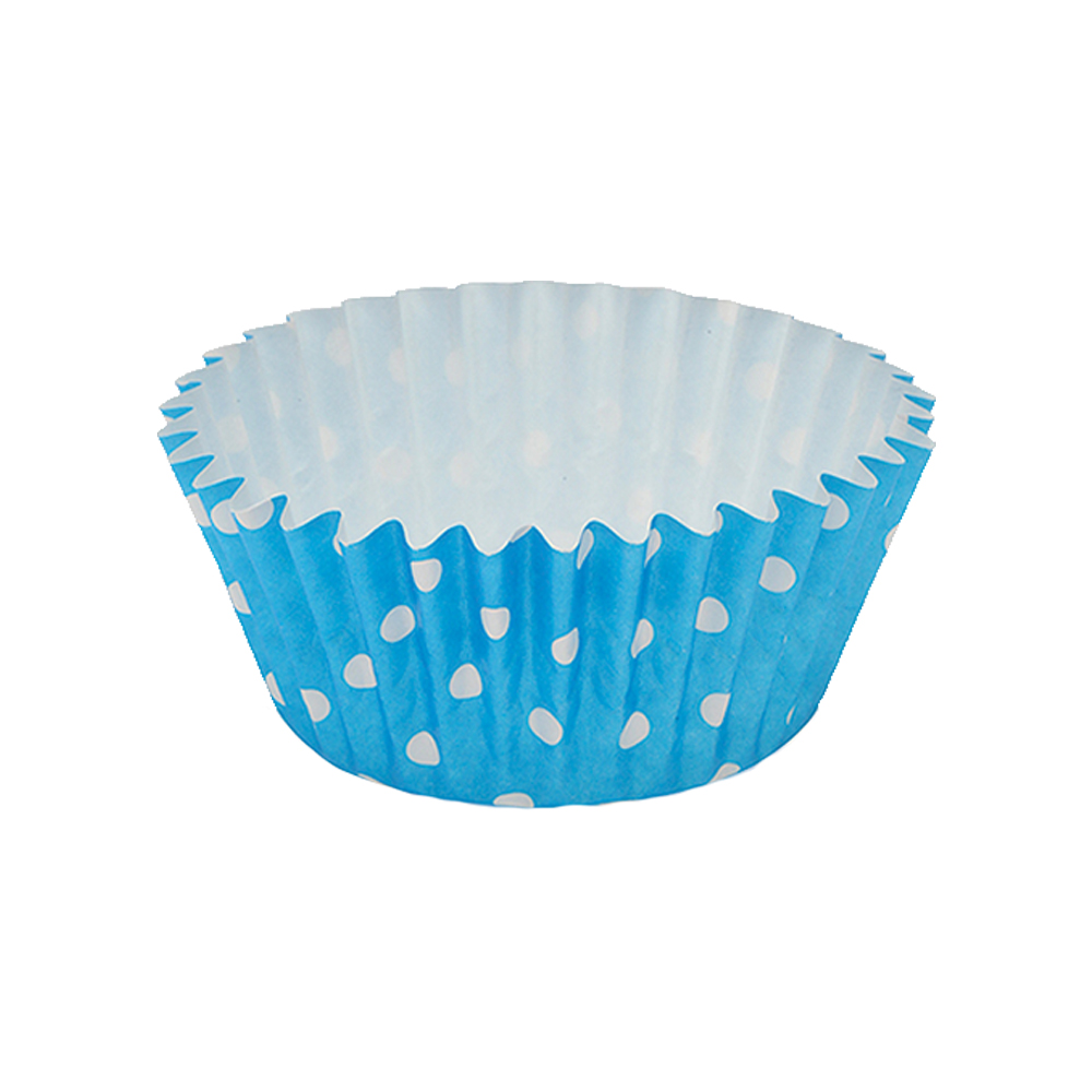 Welcome Home Brands Polka Dot Blue Ruffled Cupcake Cup PTC05030PDB
