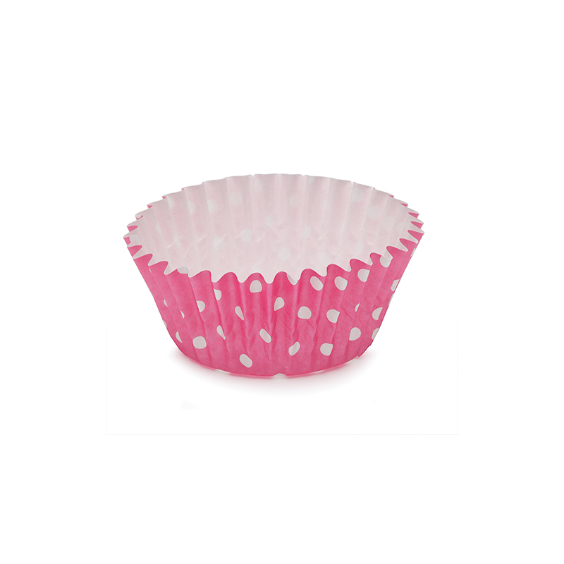 Welcome Home Brands Polka Dot Pink Ruffled Cupcake Cup PTC05030PDP