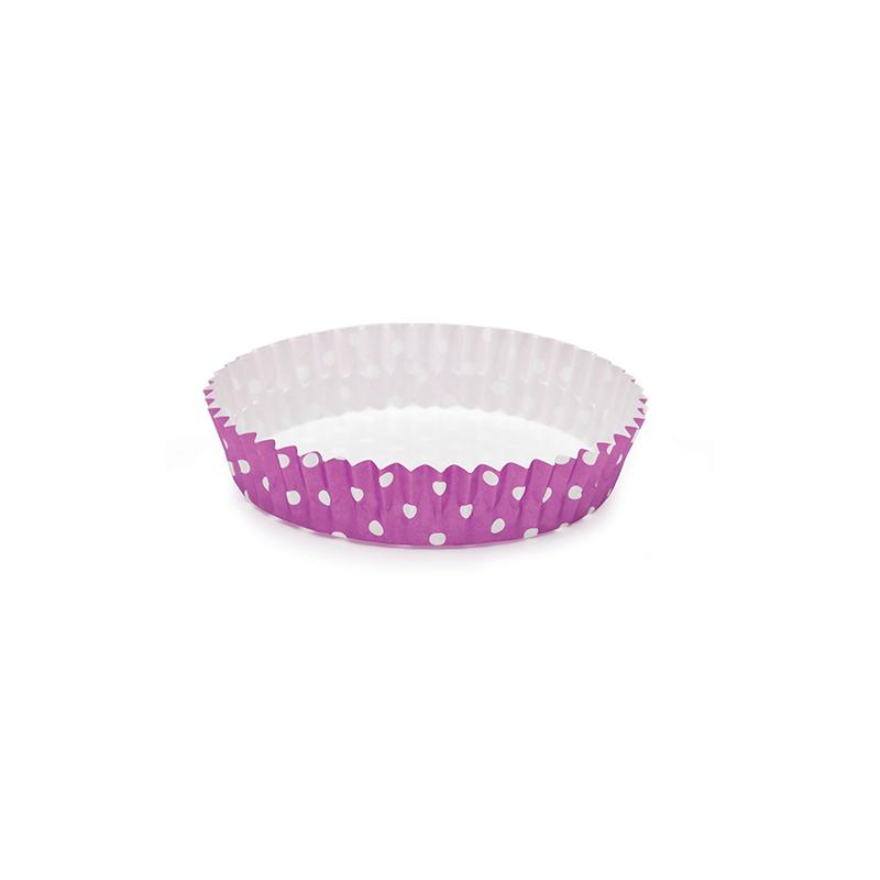 Welcome Home Brands Polka Dot Purple Ruffled Baking Cup PTC09020PDPU