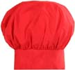 Adcraft Red Cloth Chef Hat, Adjustable Velcro Closure