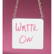 Cal-Mil Write-On Urn-Chain Sign - 176