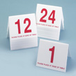 Cal-Mil Number Tent, Red on White, Set of 25 Numbers