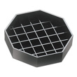 Cal-Mil Black Octagon Spigot Drip Tray , Pack of 12