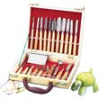 22 Piece Carving Set in Wooden Case
