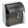 Georgia-Pacific Vista Black Hygienic Push Paddle Roll Paper Towel Dispenser