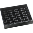 Cal-Mil Black Square Drip Tray, Pack of 12