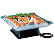 "Cal-Mil Clear 24"" Square Illuminated Ice Diplay Tray"