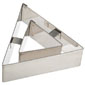 "Ateco Triangle Vol Au Vent Cutter 3.25,"" Stainless Steel"