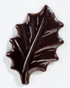 "Chocolate Blister Holly Leaves. 90 Leaves, 2"" long"