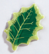 "Chocolate Blister Holly Leaves. 90 Green Leaves, 2"" long"