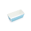 Welcome Home Brands Disposable Stripe Blue Paper Mini Loaf Baking Pan