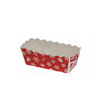Welcome Home Brands Snowflake Red Disposable Paper Mini Loaf Baking Pan