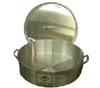 Cooking-Aid Aluminum Brazier & Lid, 35 Quart, Somewhat Corroded