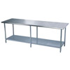 "Stainless Steel Work Table 84"" or Longer"