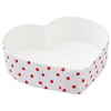Welcome Home Brands White / Red Dotted Heart Shaped Paper Baking Pan