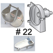 #22 Housing, Door & Pusher Only (VS-22H, VS-99D & VS-99P)