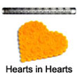 Fat Daddio's Impression Rolling Pin: Hearts in Hearts - IRP-050