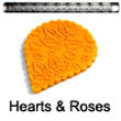 Fat Daddio's Impression Rolling Pin: Hearts and Roses - IRP-052
