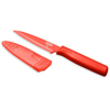 Kuhn Rikon Nonstick Serrated Paring Knife, Red